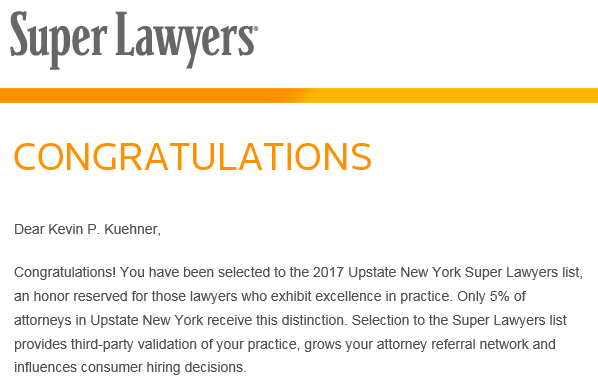 Kuehner Law Firm - Super Lawyers 2017